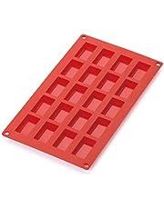 Lekue 0621020R01M022 20 Cavities Financier Multi Cavity Baking Mold, Red