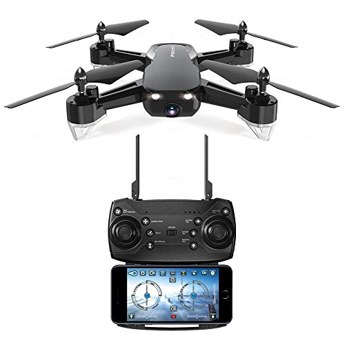 SUKEQ WiFi FPV Drone, FQ40 2.4G 4CH 6 Axis 2.0MP 720P Wide-Angle HD Camera Live Video RC Quadcopter Altitude Hold Headless Mode Helicopter Hover (Black) ()