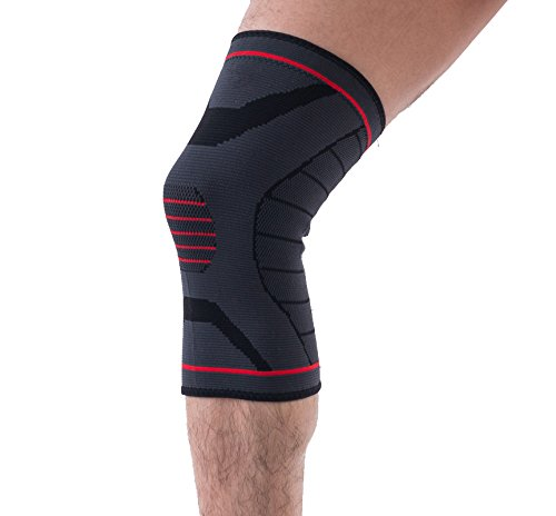 Protec Toe Caps (Sportrodo Compression Knee Sleeve Support Knee Brace Pad for Running, Jogging, Sports, Joint Pain Relief, Arthritis and Injury Recovery - Large)