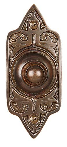 Wired Brass Doorbell Chime Push Button in Oil Rubbed Bronze Finish Vintage Decorative Door Bell with Easy Installation by A29