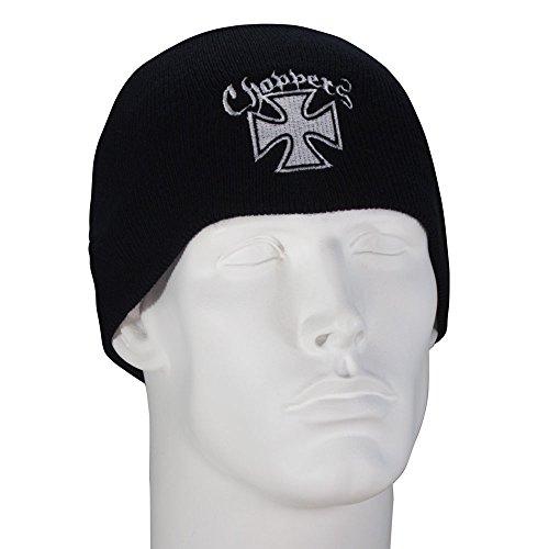 Bandana.com Maltese Cross Choppers Embroidered Black Beanie - Dozen - Choppers Hat Beanie