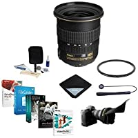 Nikon 12-24mm F/4G ED-IF DX NIKKOR Lens Bundle with 77mm UV WA Filter & Pro Software