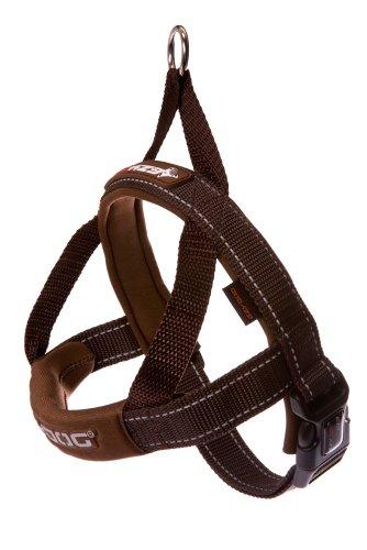 EzyDog Quick Fit Custom Fit Adjustable Dog Harness (Large, Chocolate)