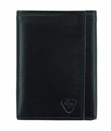 Lewis N. Clark Rfid Leather Tri-Fold Wallet, Black, One Size