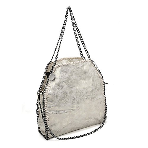Young Women Sally Bags Daily Large Travel Sliver Shopping Pu Casual Totes Leather Hobo Fashion Use Handbag afSrnRWdf