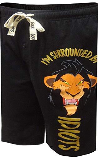 The Lion King Villain (Disney Men's Lion King Scar Surrounded by Idiots Lounge Shorts)