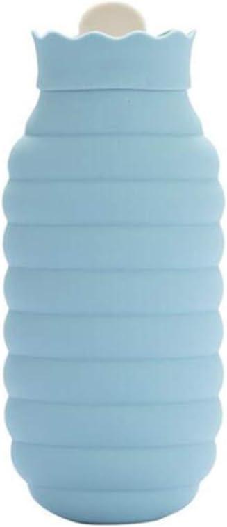ZSDGY Bolsa De Agua Caliente Calentador De Manos/Silicona Microondas Calefacción Botella De Agua Caliente/Mini Inyección De Agua para Bebés,Blue-B