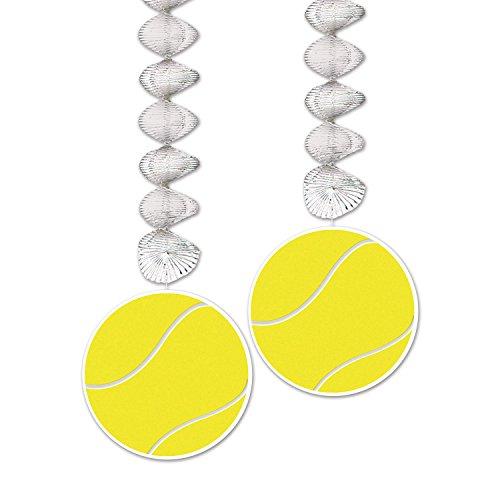 Beistle 54737 Tennis Danglers Yellow product image