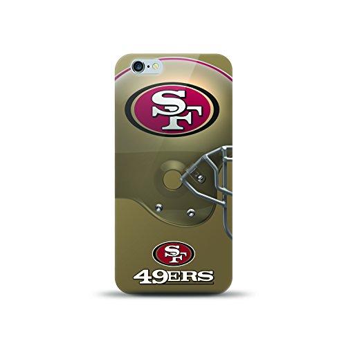 Mizco NFL-HL6P-49ER Sports Helmet Series Tpu Case Nfl San Francisco 49Ers, Compatible with IPhone 6S Plus