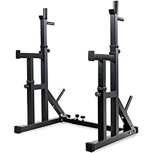 Adjustable Squat Rack Stands Multifunction Barbell Bench Press Dipping Station