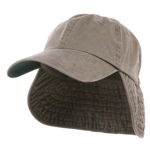Washed Cotton Flap Hats-Khaki (Cotton E4hats Flap Hat)