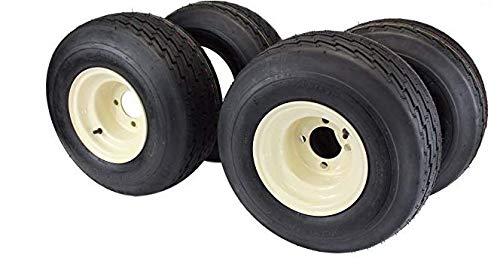 3G Set of 4 Used Golf Cart Wheels & Tires, Fits EZ-GO, Yamaha, Club Car