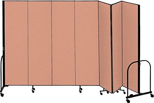(Screenflex - CFSL807 Beige - 13 ft. 1 in. x 8 ft, 7-Panel Portable Room Divider, Beige)