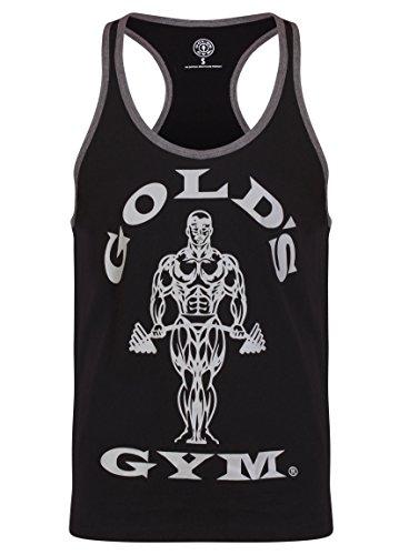 Gameworld Muscle Joe Contrast Camiseta Hombre Negro
