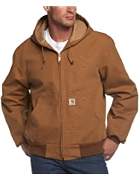 Men's Big & Tall Thermal-Lined Duck Active Hoodie Jacket...
