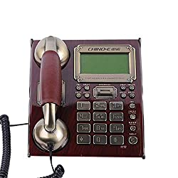 GWFVA Antique Wired Telephone- Classic Style Telephone Wired TelephoneSet Home and Office Decor Corded Phone Caller ID/Call Waiting