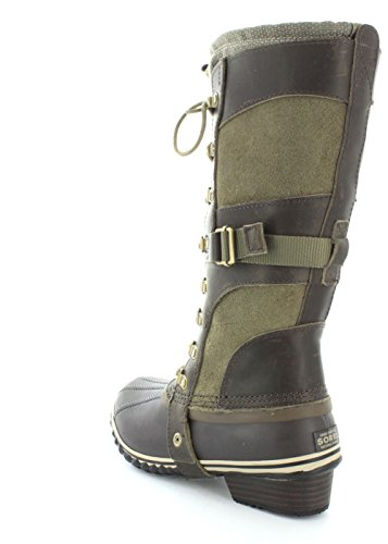De la Mujer de Sorel CONQUEST CARLY botas Green-Brown