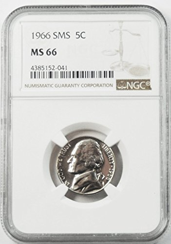 1966 P SMS Jefferson Nickel Gem Uncirculated MS66