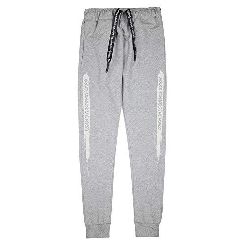 Xturfuo Men's Casual Jogger Sweatpants Basic Pant Elastic Waist Casual Track Pants Comfortable Sweatpants with Pockets Dark Grey