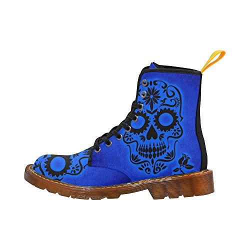 Leinterest Skull Flower Martin Boots Fashion Shoes Voor Dames