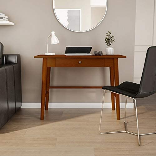 Linon Meade Warm Brown Mid-Century Modern Desk - the best home office desk for the money