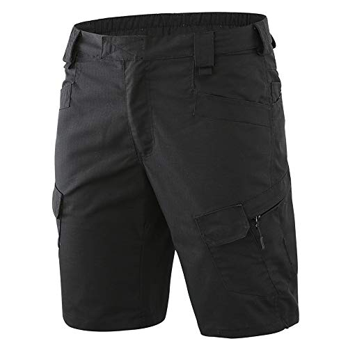 AUSZOSLT Men's Outdoor Tactical Combat Shorts Cotton Hiking Military Camo Cargo Shorts Black 3XL