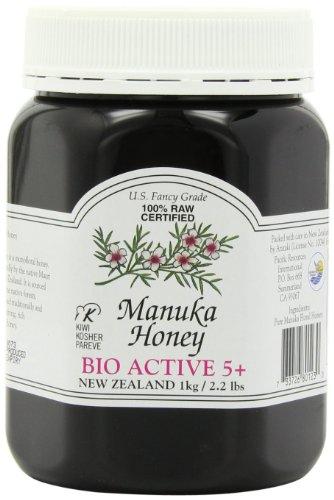 Active 5+ Manuka Honey (Manuka Honey Bio Active 5+, 2.2 Pound Jar)