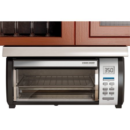 Spacemaker Black and Stainless Toaster Oven with 7 Toast-shade Settings From Light to Dark (Red Toaster Oven Combo compare prices)