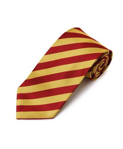 Red & Yellow School College Tie Woven Stripe Tie , 57