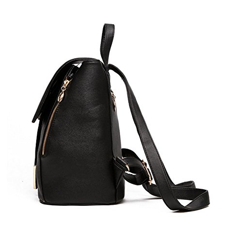 Leather Ladies Red PU Fashion Girls bag Travel Bag Backpack Rucksack Women Shoulder CPq857xw5