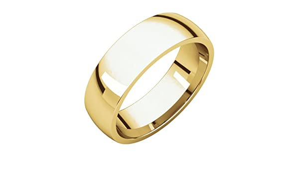 Jewels By Lux 10K Yellow Gold 4mm Light Comfort Fit Wedding Ring Band