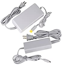 Fosmon Bundle Pack for Nintendo Wii U - Power Supply AC Adapter Charger and Premium Power Supply Charging AC GamePad Charger Adapter for Nintendo Wii U