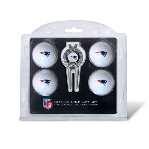 NFL New England Patriots 4 Golf Ball And Divot Tool Set by Team Golf