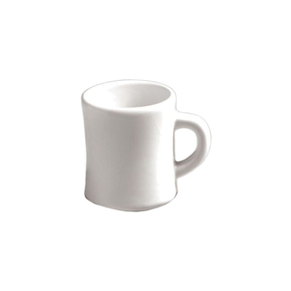 Diversified Ceramics DC107-W White 9.5 Oz. Texan Coffee Mug - 24 / CS