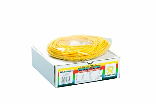 FEI 10-5521 Can-Do Low Powder Exercise Tubing, X-Light, 100' Length, Yellow