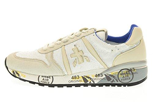 PREMIATA mujeres bajas zapatillas de deporte DIANE 1422E talla 38 Gris / blanco