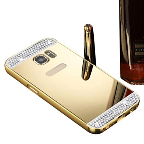 Price comparison product image For Samsung Galaxy S7 Edge,Elaco Luxury Bling Glitter Hard Back Film Case Cover (Gold, S7 Edge)