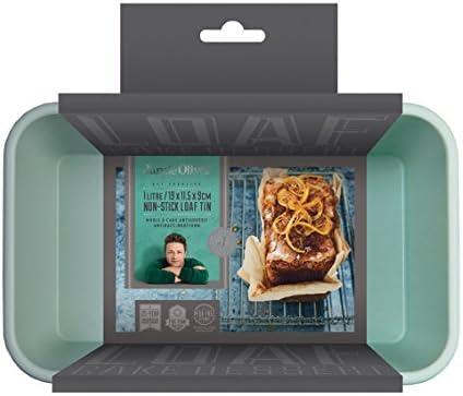 Jamie Oliver Antihaft Kasten Backform JB1050 aus Karbonstahl in harbourblue Maße: 19 x 11 x 9 cm Geeignet für 0,45 kg Brot- oder Kuchenteig 2349361