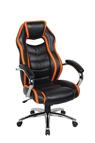VIVA OFFICE High Back Bonded Leather Game Racing Chair with