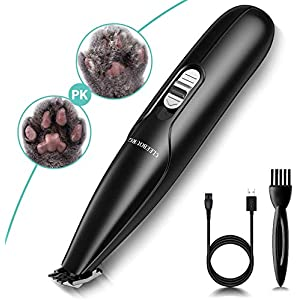 CLEEBOURG Dog Clippers Grooming Kit, Professional Electric Pet Clipper Low Noise Rechargeable Cordless Pet Hair Trimmer…