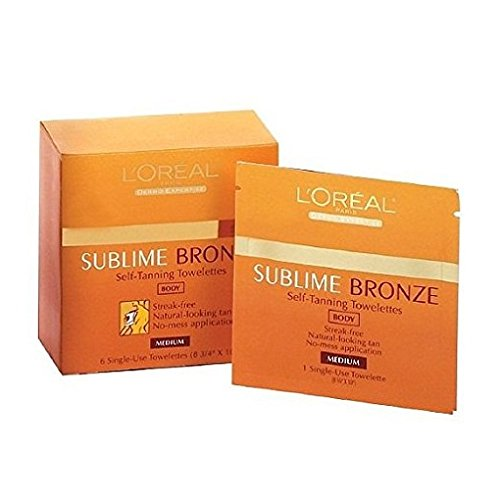 Loreal Sublime Bronze Self Tanning Towelettes - L'Oreal Paris Sublime Bronze Self-Tanning Body Towelettes, 6 Count (Pack of 3)