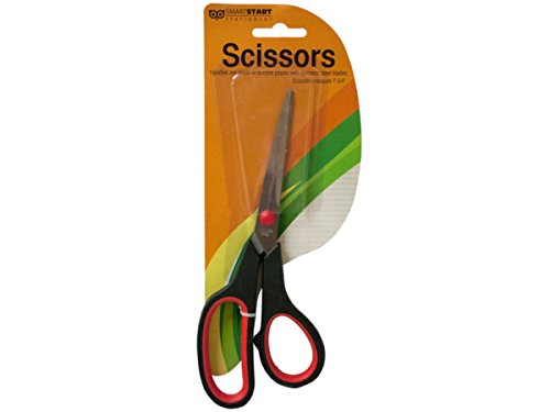 (Sterling Stainless steel scissors with plastic handle (Set of 48))
