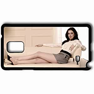 Personalized Samsung Note 4 Cell phone Case/Cover Skin Anne hathaway actresses famous for being star of the devil wears prada and becoming jane and get smart Black by supermalls