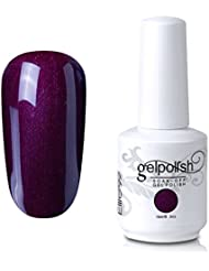 Elite99 Gel Nail Polish Soak Off UV LED Gel Lacquer Nail Art Manicure 260 Pearl Purple Brown 15ml