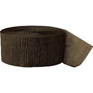 Unique Industries 81ft Brown Crepe Paper Streamers - 6374