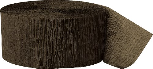 UPC 011179063741, Crepe Paper Streamers, 81 Feet, Brown
