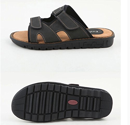 Mens Summer Casual Household Shoes Beach Antiskid Slippers Black GMbMD