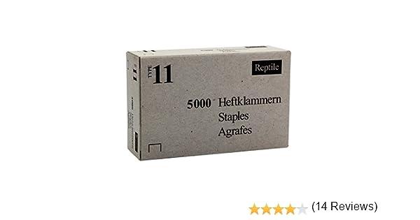 /Grapas tipo 11/la Industria alambre plano 5000/unidades Rapid/ //10/mm 11910770 140