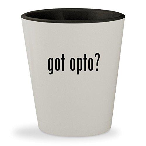 got opto? - White Outer & Black Inner Ceramic 1.5oz Shot Glass