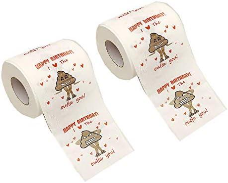 Qhzhang 2pcs Happy Birthday Novelty Toilet Paper A Novel Collectible Toilet Paper Fun Birthday Gift Party Gifts Fun Prank Gift Happy Birthday 2pcs Novelty Toilet Paper Amazon Sg Toys Games